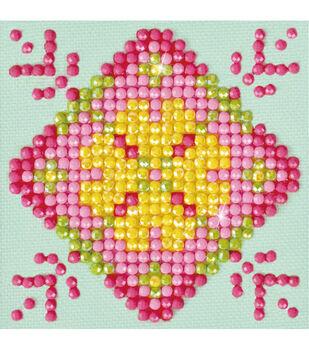 Diamond Dotz Diamond Embroidery Kit 4.75''X4.75''-Patchwork Mandala 1