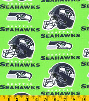 "Seattle Seahawks Cotton Fabric 58""-Green, , hi-res"