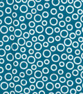 Quilter\u0027s Showcase Cotton Fabric -Circles on Turquoise