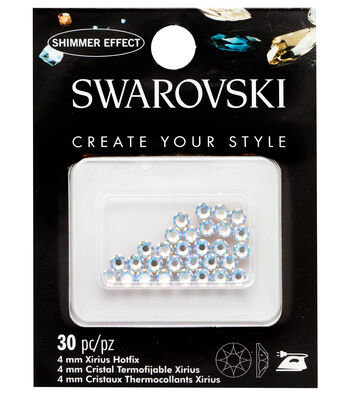 Swarovski Create Your Style 30 pk Hotfix Crystals-Crystal Shimmer