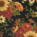 Harvest Cotton Fabric-Large Sunflowers