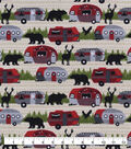 Snuggle Flannel Fabric-Buffalo Check Campers & Animals
