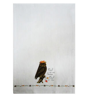 Simply Autumn Tip Towel-Owl of Me Loves Owl of You