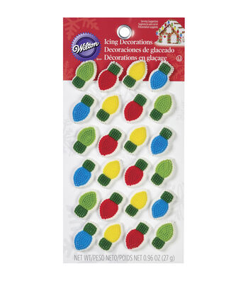 Wilton 24ct Holiday Light Bulb Icing Decorations
