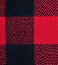 Flannel Shirting Fabric -Red & Black Buffalo Plaid