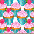 Packed Cupcakes Print Fabric