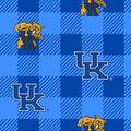 Kentucky Wildcats Fleece Fabric-Buffalo Plaid