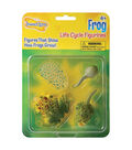 Frog Life Cycle Stages Figurines, 4 Per Set, 2 Sets