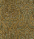 Waverly Upholstery Fabric 54\u0022-Clubroom Paisley Spa