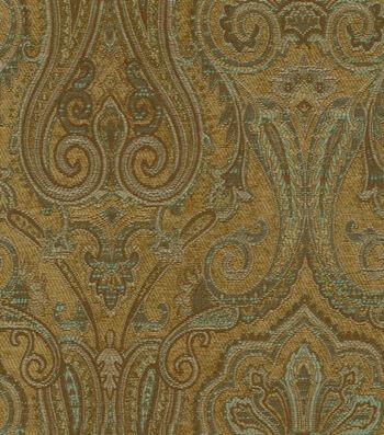 "Waverly Upholstery Fabric 54""-Clubroom Paisley Spa"