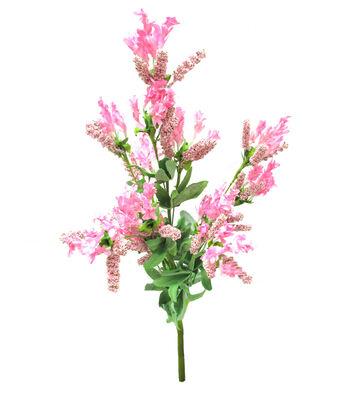 Wild Blooms 22.5'' Heather & Lavender Bush-Pink