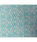 Silky Print Fabric-Tribal Aqua Rayon