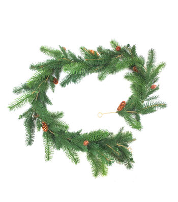 Blooming Holiday Christmas 4''x66'' Pine Needle & Pinecone Garland