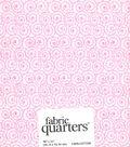 Fabric-Quarters Assorted Fabric-White