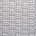 Super Snuggle Flannel Fabric-Cabin Life Words