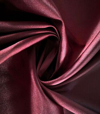 "Holiday Shine Stretch Satin Fabric 58""-Burgundy"
