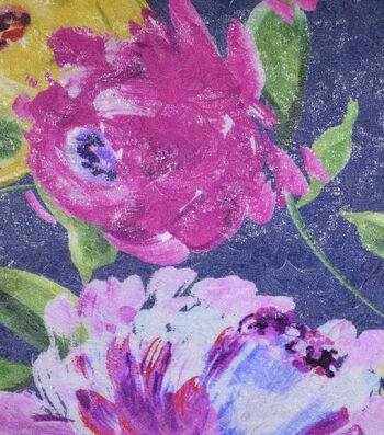 "Gianna Silk Blend Double Jacquard Print Fabric 53""-Watercolor Rose"