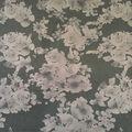 Scuba Knit Fabric-Black Tonal Floral