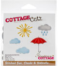 The Scrapping Cottage CottageCutz Dies-Stitched Sun, Clouds & Umbrella