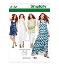 Simplicity Pattern 8132 Misses\u0027 Dress, Tunic & Bralette-Size P5 (12-20)