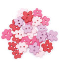 Favorite Findings Buttons-Spring Flowers 23/pkg