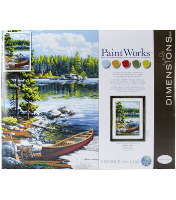 PaintWorks Paint by Number Kit-Canoe by the Lake