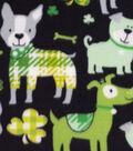 Lucky Irish Fleece Fabric 59\u0022-Lucky Dog