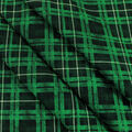 Christmas Cotton Fabric-Hollys On Plaid