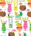 Novelty Cotton Fabric -Tropical Drinks