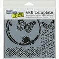 Crafter\u0027s Workshop Butterfly Collage Template 6\u0027\u0027x6\u0027\u0027