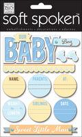 Me & My Big Ideas Soft Spoken Embellishments-Baby Boy