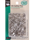 Dritz Safety Pins-Brass&Steel 100/Pkg
