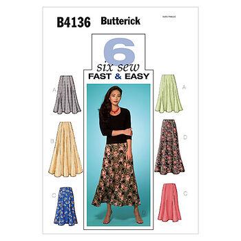Butterick Misses Skirt-B4136