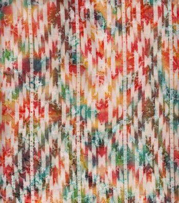 "Indian Batiks Cotton Fabric 44""-Multi Bright Aztec Geometrics"