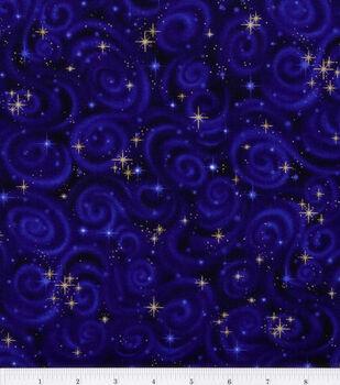 Premium Cotton Fabric -Stars on Violet