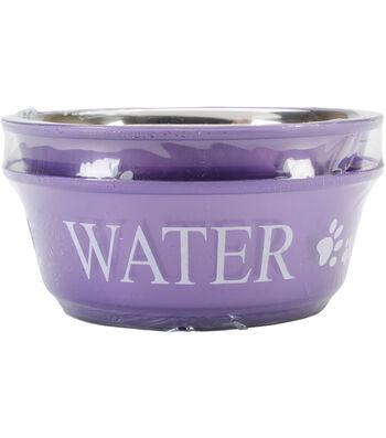Buddy's Line Food & Water Lilac Bowl Set Medium