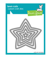 Lawn Fawn Lawn Cuts Custom Craft Die-Puffy Star Stackables, , hi-res