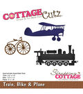 CottageCutz Die-Train, Bike & Plane 1.3\u0022 To 3.2\u0022