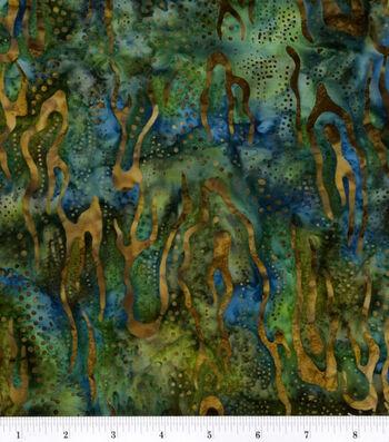 Legacy Studio Indonesian Batiks Cotton Fabric 44''-Navy Landscape