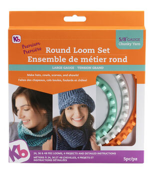 Knitting Board Premium Chunky Yarn Round Loom Set