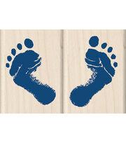 Inkadinkado Baby's Feet Wood Mounted Stamps Set, , hi-res