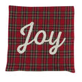 Handmade Holiday Christmas 18\u0027\u0027x18\u0027\u0027 Pillow Cover-Joy on Red Plaid