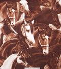 No Sew Fleece Throw Kit 72\u0027\u0027x60\u0027\u0027-Brown Running Horses