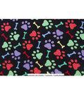 Anti-Pill Fleece Fabric 59\u0022-Dotted Paw Prints