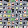 Snuggle Flannel Fabric -Happy Sushi