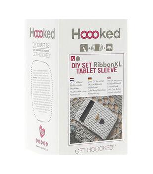 Hoooked RibbonXL Tablet Sleeve DIY Crochet Kit-Sandy Ecru