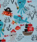Novelty Cotton Fabric 43\u0027\u0027-Pirate Sea Creatures