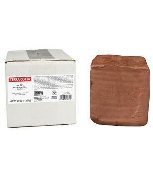 AMACO Air Dry Modeling Clay, Terra Cotta, 25 lb.