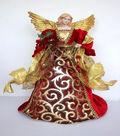 Maker\u0027s Holiday Christmas 16\u0027\u0027 Gold Wing Angel Tree Topper