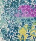 Specialty Luxe Fleece Fabric 59\u0022-Patchwork Aqua Floral